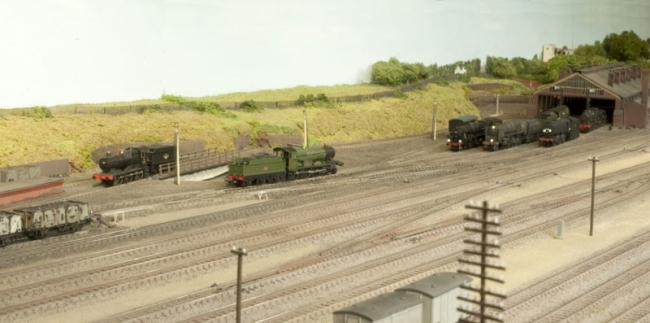 Shed and turntable