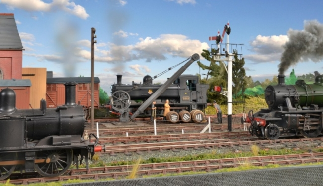 Busy time by the goods yard entrance